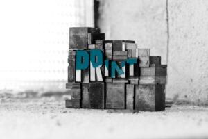 """Druckletter """"Print"""""""
